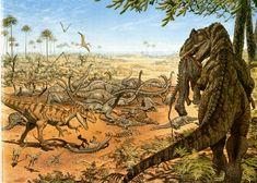 ผลการค้นหารูปภาพสำหรับ vintage dinosaur art