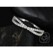 Rosados Box Skinny Lima 14kt White Gold Infinity Diamond Wedding Band