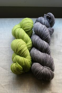gorgeous color combo: chartreuse and gray