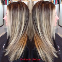 This natural blond balayage ombré is done by Don at D-Rock Salon, Fairfax VA