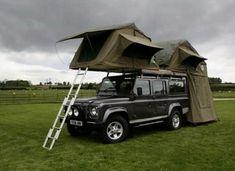 Land Rover Defender Camping, Defender Camper, Land Rover Defender 110, Truck Camping, Van Camping, Camping Stuff, Camping Life, Suv Tent, Sport Truck