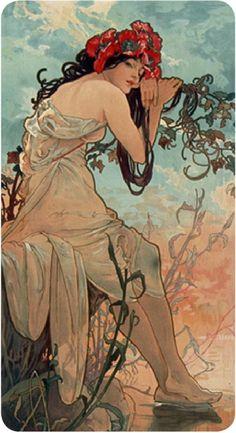art art pintura Alphonse Mucha ~ Art Nouveau P Mucha Art Nouveau, Alphonse Mucha Art, Art Nouveau Poster, Art Inspo, Kunst Inspo, Art And Illustration, Design Art Nouveau, Jugendstil Design, Art Graphique