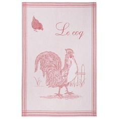 Coucke French Jacquard Cotton Kitchen Dish Towel Farm Animal Collection, The Coq PJ Pattern, 19 by 29-Inch, Red COUCKE http://www.amazon.com/dp/B009K1QAFO/ref=cm_sw_r_pi_dp_ocupvb0GTYS82