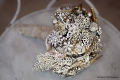 Vintage brooch bouque. Very elegant