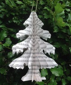 Sheet Music Christmas Tree 10.25'' Decoupage on #zulily!
