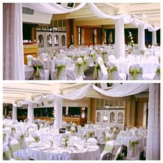 Whether your wanting your wedding to be simple or over the top draping can add opulence and uniqueness