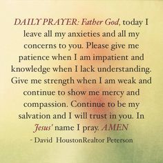 Found this just today a sweet little Daily Prayer. That as all the right words in my troubled heart that I want to say to my Lord God. Prayer Scriptures, God Prayer, Prayer Quotes, Power Of Prayer, Bible Prayers, Daily Morning Prayer, Morning Prayers, Daily Prayer, Morning Blessings