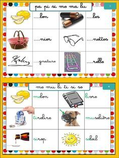 Atelier syllabes initiales