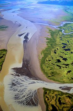 Copper River Delta, Alaska, by aerial photographyer Jim Wark All Nature, Amazing Nature, Science Nature, Aerial Photography, Landscape Photography, Nature Photography, Night Photography, Landscape Photos, Fractal
