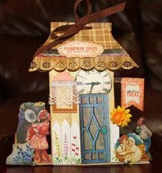 Paper house Miniature Houses, Pumpkin Spice, Gingerbread, Decorative Boxes, Scrap, Miniatures, Paper, Home Decor, Decoration Home