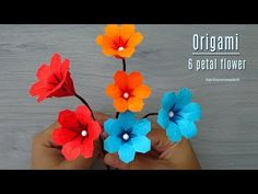 Origami Flowers 138556126023644477 - Origami flower – How to make origami 6 petal flower, Paper flower tutorial Source by mamacyn Origami Simple, How To Make Origami, Useful Origami, Origami 6 Petal Flower, Origami Flowers Tutorial, Origami Instructions, Origami Bouquet, Folded Paper Flowers, Paper Flowers Craft