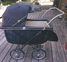 Antique Thayer Baby Carriage/ Buggy - Bouncy Carriage- Hooded Canopy & Storage #Thayer
