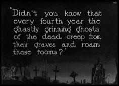 "Intertitle for Harold Lloyd's""Haunted Spooks"" (1920)"