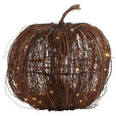 Pre-Lit Grapevine Pumpkins
