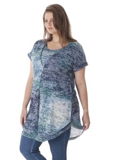 A-line tunic with double front