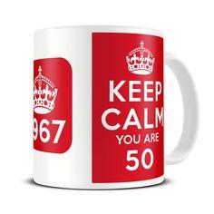 Magoo Keep Calm You are 50 Novelty Mug – gift for birthday 1966 Nurse Mugs, Nurse Gifts, Keep Calm Mugs, 50 And Fabulous, Novelty Mugs, 50th Birthday, Gifts In A Mug, Tableware, Range