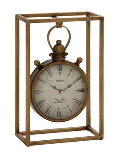 Metal Table Clock from Safari Chic Accents on Gilt