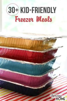 30+ Kid Friendly Freezer Meals. Look no further for healthy, make ahead meals that you can stock up on. All of these recipes are kid friendly and freezer friendly. A must have resource for the future!