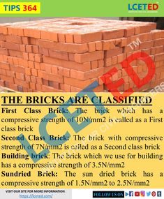 Civil Engineering Works, Engineering Notes, Civil Engineering Construction, Types Of Bricks, Concrete Materials, Building Materials, Concrete Mix Design, Basic Physics