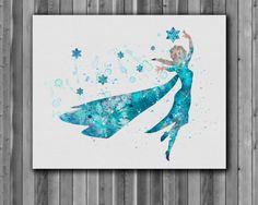 Princess Elsa DISNEY Frozen Art Print instant by digitalaquamarine