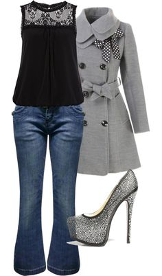 """Sparkle On"" by callico32 ❤ liked on Polyvore. Looooove the coat"
