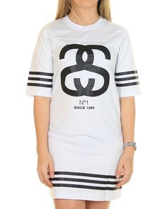 Inseption - Stussy - Womens - Daria Grid Iron Dress - White