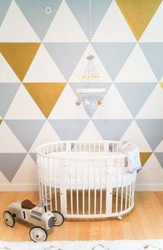 Mod nursery space (it fits a home office, too).