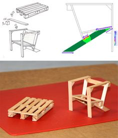 popsicle sticks to make scale models of pallet projects