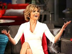 """Lisa Rinna during the """"Real Housewives of Beverly Hills"""" reunion."""