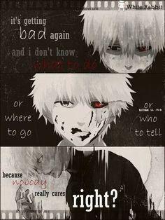 Ideas quotes sad anime tokyo ghoul for 2019 Sad Anime Quotes, Manga Quotes, Anime Meme, Anime Guys, Tokyo Ghoul Quotes, Ken Kaneki Tokyo Ghoul, Dark Quotes, Badass Quotes, Dark Anime