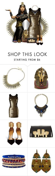 """Like an Egyptian"" by capehler ❤ liked on Polyvore featuring Monsoon, Aquazzura, Jonathan Adler, Charlotte Russe and Askew London"