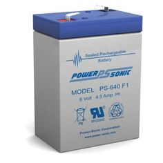 NP1.2-6FR 6 Volt 1.2 AmpH SLA Replacement Battery with F1 Terminal