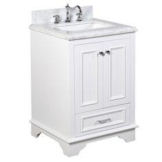 Nantucket 24 Inch Vanity (Carrara/White)