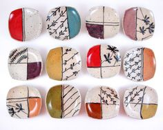 Littles.    Small, squared plates from LaPella Pottery in modern, whimsical…