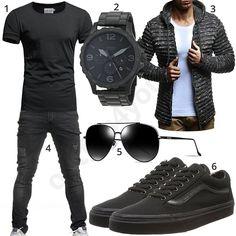 Black men& style with glasses, zip-hoodie and shirt - Jeans und converse - Boy Fashion, Mens Fashion, Fashion Outfits, Dope Outfits, Style Fashion, Mantel Elegant, Moda Men, Style Masculin, Herren Style