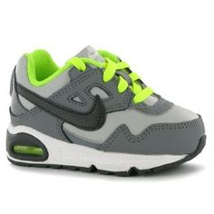 sports shoes d70e5 017b2 Details about Nike Air Max Skyline Infants Trainers - Grey/Nght/Volt