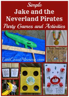 East Coast Mommy: Jake and the Neverland Pirates Party Games & Activities Pirate Party Games, Pirate Activities, Fun Party Games, Pirate Theme, Mermaid Party Favors, Mermaid Parties, 4th Birthday Parties, 5th Birthday, Birthday Ideas