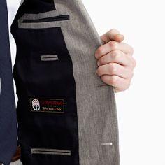 Ludlow suit jacket in délavé Italian linen - suiting -Men- J.Crew