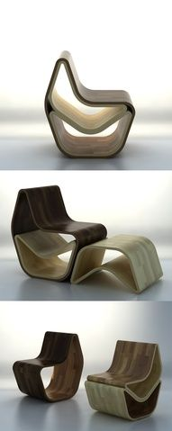timber chair... two in one (+ footstool)
