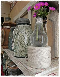loved making the light bulb vase! hmmm now what do I do with it.....fun A Southern Belle with Northern Roots: create