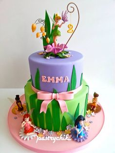 Tinker Bell Cake by Pastrychik