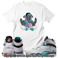 abcd8942c37c97 CUSTOM T SHIRT MATCHING STYLE OF Air Jordan 8 South Beach JD 8-5-