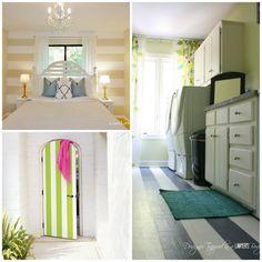12Maneras económicas dehacer detuapartamento toda una obra dearte Design Page, Striped Walls, Bath Decor, Creative Home, Apartment Design, Cozy House, Home Bedroom, Decoration, Home Projects