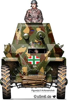 Drawings and information on Csaba Armoured Car of the Hungarian Army Military Art, Military History, Anti Tank Rifle, Germany Ww2, Central And Eastern Europe, Military Equipment, Paint Schemes, Panzer, Armored Vehicles