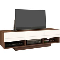 Sequence TV Stand ($273) ❤ liked on Polyvore featuring home, furniture, storage & shelves, entertainment units, mod furniture, modern tv stand, modern media stand, modern media cabinet and modern home furniture