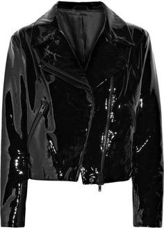 patent-leather biker jacket  For a Catwoman idea I have.
