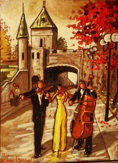 Oeuvres de l'artiste peintre Claude Bonneau Claude, Les Oeuvres, Modern Art, Heaven, Canada, Painting, Dance, Image, Woman