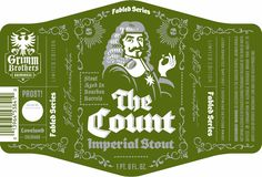 The Count - Grimm Brothers Stout label