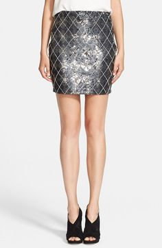 Haute Hippie Sequin Argyle Skirt available at #Nordstrom #Holiday Skirt!