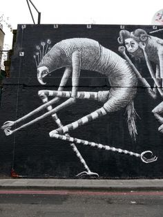 New Murals by Phlegm in London | InspireFirst